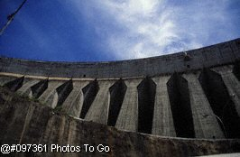 Perspective detail of dam