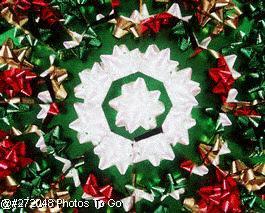 Christmas bows kaleidoscope pattern
