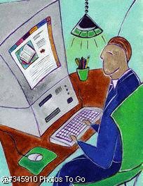 Businessman at computer