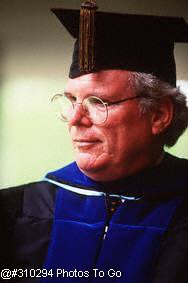 Portrait of professor in commencement robe