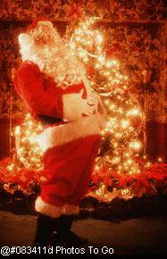 Santa Claus w/christmas tree