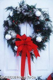 Beautiful Christmas wreath on door