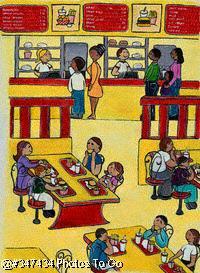 Illustration: Fast food restaurant