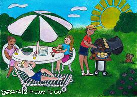 Illustration: Summer barbeque
