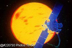 Satellite around the sun