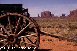 Wagon in Monument Valley, AZ