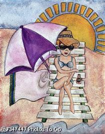 Illustration: At the beach
