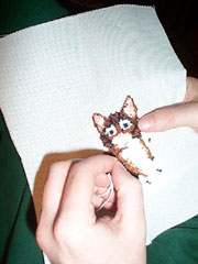 Needlepoint of Cat
